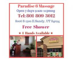 4 Ha n ds Paradise 6 Massage Free Table Shower 801-809-3012
